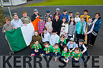 The Children and teachers of Douglas NS, Killorglin who raised the Tricolor and read the proclamation on Thursday