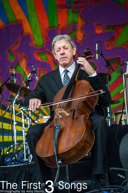 John Hagen performs with Lyle Lovett during the New Orleans Jazz & Heritage Festival in New Orleans, LA.