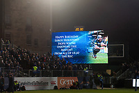 A general view of the big screen at half-time. Anglo-Welsh Cup match, between Bath Rugby and Leicester Tigers on November 10, 2017 at the Recreation Ground in Bath, England. Photo by: Patrick Khachfe / Onside Images