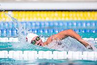 Santa Clara, California - Sunday June 5, 2016:  Edward Smith races in the Men's 100 LC Meter Backstroke at the Arena Pro Swim Series at Santa Clara morning session.