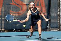 SAN ANTONIO, TX - JANUARY 28, 2017: The University of Texas at San Antonio Roadrunners defeat the McNeese State University Cowgirls 5-2 at the UTSA Tennis Center. (Photo by Jeff Huehn)