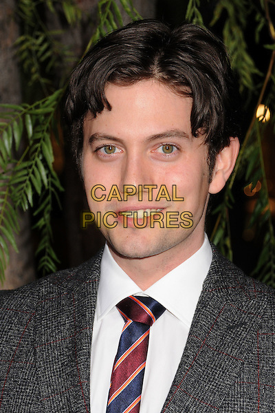 "Jackson Rathbone.""Beautiful Creatures"" Los Angeles Premiere held at the TCL Chinese Theatre, Hollywood, California, USA. .February 6th, 2013.headshot portrait suit grey gray red stripe tie blue white shirt.CAP/ADM/BP.©Byron Purvis/AdMedia/Capital Pictures."