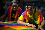© Joel Goodman - 07973 332324 . 26/08/2017. Manchester , UK. 2017 Pride parade through Manchester City Centre . The annual festival , which is the largest of its type in Europe , celebrates LGBT life . Photo credit : Joel Goodman
