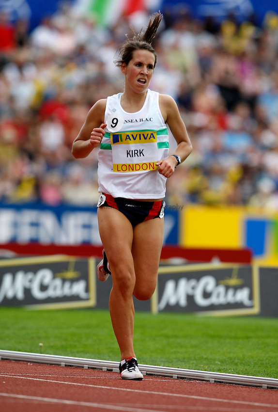 Photo: Richard Lane/Richard Lane Photography. .Aviva London Grand Prix, Crystal Palace. 26/07/2008. Great Britain's Elinor Kirk in the Women's 3000m Under 20.