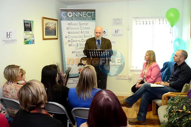 The CEO of Barnardos, Fergus Finlay, speaking at the launch of the Parenting Tips booklet at the Connect Family Resource Centre in Moneymore. Photo: Andy Spearman. www.newsfile.ie www.newsfile.ie