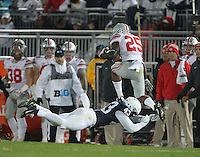 State College, PA - 10/22/2016:  LB Manny Bowen dives to tackle RB Mike Weber. Penn State upset #2 Ohio State by a score of 24-21 on Saturday, October 22, 2016, at Beaver Stadium in University Park, PA.<br /> <br /> Photos by Joe Rokita / JoeRokita.com