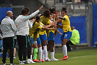 Joie de Christiane (bresil) et de son staff<br /> Grenoble 09-06-2019 <br /> Football Womens World Cup <br /> Brazil - Jamaica <br /> Brasile - Giamaica<br /> Photo Frederic Chambert / Panoramic/Insidefoto <br /> ITALY ONLY