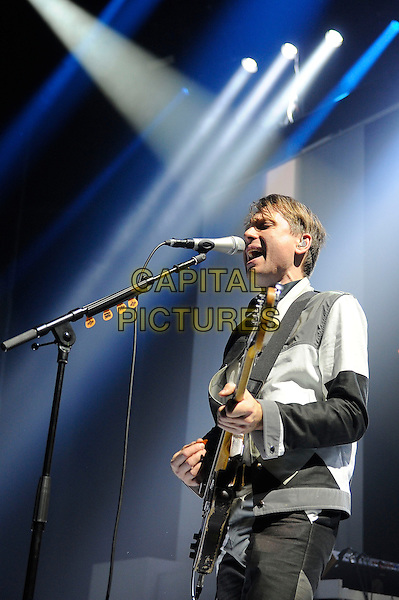 LONDON, ENGLAND - March 14: Alex Kapranos of Franz Ferdinand performs in concert at the Camden Roundhouse on March 14, 2014 in London, England<br /> CAP/MAR<br /> &copy; Martin Harris/Capital Pictures