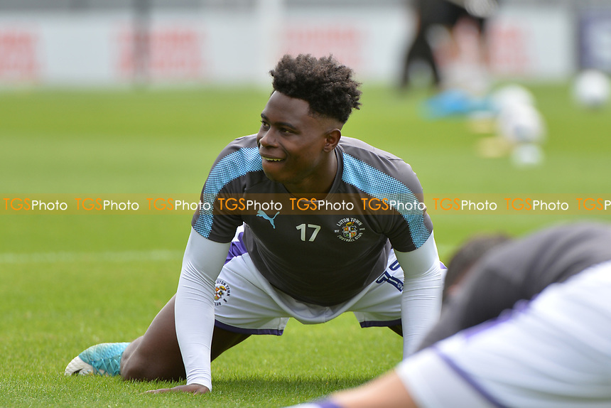Pelly Ruddock of Luton Town warms up during Barnet vs Luton Town, Sky Bet EFL League 2 Football at the Hive Stadium on 12th August 2017