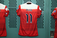 Cary, North Carolina  - Saturday August 19, 2017: Mallory Pugh jersey prior to a regular season National Women's Soccer League (NWSL) match between the North Carolina Courage and the Washington Spirit at Sahlen's Stadium at WakeMed Soccer Park. North Carolina won the game 2-0.