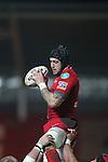 Scarlets flanker Josh Turnbull..Scarlets v Connacht.Parc y Scarlets.Rabo Pro12.08.02.13.©Steve Pope-SPORTINGWALES