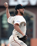 Madison Bumgarner (Giants),<br /> OCTOBER 26, 2014 - MLB :<br /> Madison Bumgarner of the San Francisco Giants pitches during Game 5 of the 2014 Major League Baseball World Series against the Kansas City Royals at AT&amp;T Park in San Francisco, California, United States. (Photo by AFLO)