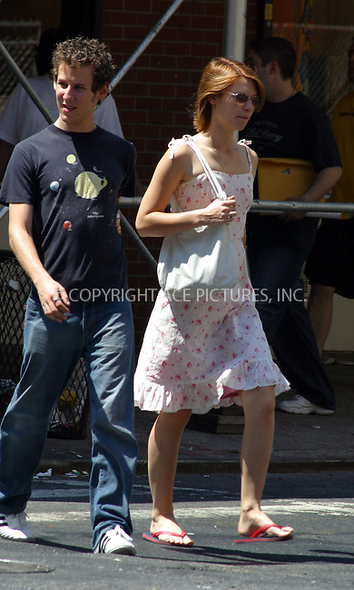 """*** EXCLUSIVE***..Actress Claire Danes who is co-starring Arnold Schwarzenegger in upcoming """"Terminator 3: Rise of the Machines"""") and her Aussie musician boyfirend Ben Lee taking a long mid-day walk in their neighborhood in SoHo. Claire and Ben have been dating since 1997 and they still seem to very much enjoy each other's company! They were spotted walking in the Streets of SoHo and West Village on a nice Sunday afternoon. They just kept conversation going. Claire and Ben occasionally checked storefronts, used their cell phones and watched people play chess in Washington Square Park. August 2002. Please byline: Alecsey Boldeskul/NY Photo Press.   ..*PAY-PER-USE*      ....NY Photo Press:  ..phone (646) 267-6913;   ..e-mail: info@nyphotopress.com"""