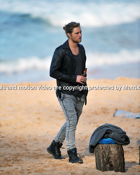 9th September, 2014 SYDNEY AUSTRALIA<br /> EXCLUSIVE<br /> Pictured,  George Mason, cast member of Home and Away doing scenes at  &quot;Summer Bay&quot; , Palm Beach, NSW. <br /> <br /> *No internet without clearance*.MUST CALL PRIOR TO USE +61 2 9211-1088. Matrix Media Group.Note: All editorial images subject to the following: For editorial use only. Additional clearance required for commercial, wireless, internet or promotional use.Images may not be altered or modified. Matrix Media Group makes no representations or warranties regarding names, trademarks or logos appearing in the images.