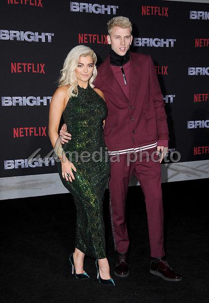 """13 December  2017 - Westwood, California - Bebe Rexha, Machine Gun Kelly. Netflix's """"Bright"""" Los Angeles Premiere held at Regency Village Theatre in Westwood. Photo Credit: Birdie Thompson/AdMedia"""