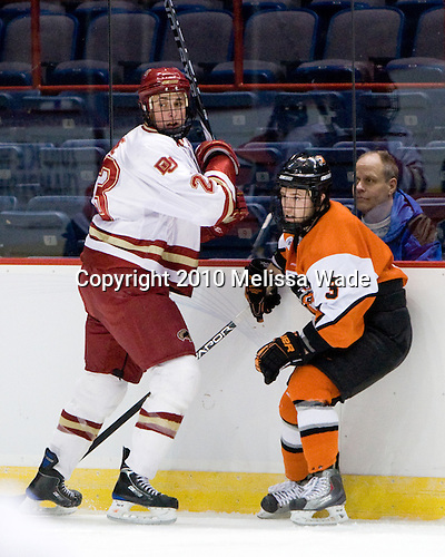 Drew Shore (Denver - 23), Scott Knowles (RIT - 3) - The Rochester Institute of Technology (RIT) Tigers defeated the Denver University Pioneers 2-1 on Friday, March 26, 2010, in their NCAA East Regional semi-final at the Times Union Center in Albany, New York.