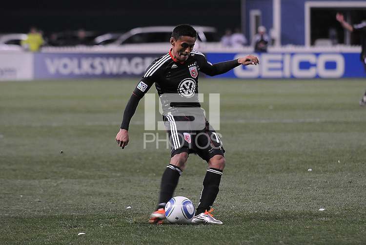DC United midfielder Andy Najar (14)   DC United defeated The Columbus Crew 3-1  at the home season opener, at RFK Stadium, Saturday March 19, 2011.