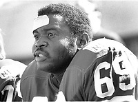 San Francisco 49er lineman Woody Peoples ...<br />