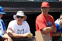 Billy Ripken and Steve Bernhardt during the Under Armour All-American Game practice presented by Baseball Factory on July 28, 2017 at Rocky Miller Park in Evanston, Illinois.  (Mike Janes/Four Seam Images)