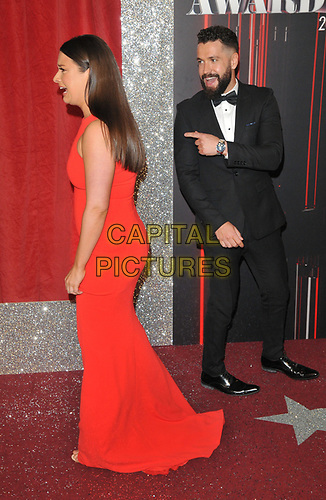 Sophie Austin and Shayne Ward at the British Soap Awards 2019, The Lowry Theatre, Pier 8, The Quays, Media City, Salford, Manchester, England, UK, on Saturday 01st June 2019.<br /> CAP/CAN<br /> ©CAN/Capital Pictures