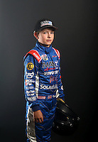 Mar. 21, 2014; Chandler, AZ, USA; LOORRS junior 1 driver Madix Bailey poses for a portrait prior to round one at Wild Horse Motorsports Park. Mandatory Credit: Mark J. Rebilas-USA TODAY Sports
