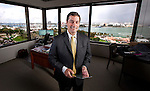 Ramon Abadin, an attorney with Sedgwick Law Firm, in his office on Biscayne Blvd in Miami, Florida.