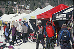 CLIMBERS AND SPECTATORS AT BOOTHS AT OURAY ICE FESTIVAL