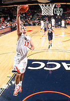 CHARLOTTESVILLE, VA- December 3: Sammy Zeglinski #13 of the Virginia Cavaliers handles the ball during the game on December 27, 2011 against the Longwood Lancers at the John Paul Jones Arena in Charlottesville, Virginia. Virginia defeated Longwood 86-53. (Photo by Andrew Shurtleff/Getty Images) *** Local Caption *** Sammy Zeglinski