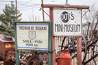 Dot's Mini Museum located at the end of old Route 66 in Vega Texas.