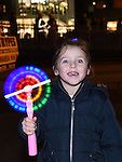 Skye O'Sullivan pictured at the fireworks display at Scotch Hall sponsored by Funtasia. Photo:Colin Bell/pressphotos.ie