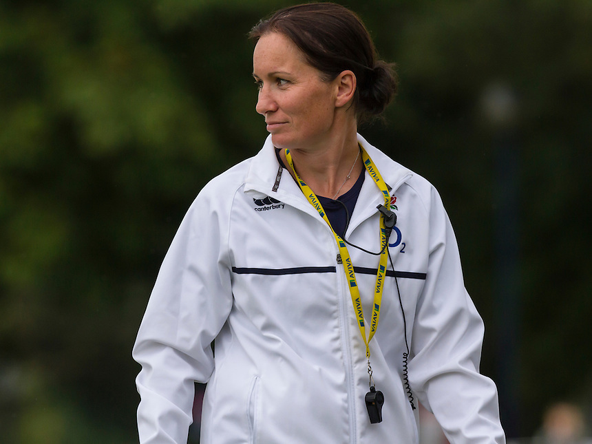 Head Coach Jo Yapp pre-match, U20 England Women v U20 Canada Women at Trent College, Derby Road, Long Eaton, England, on 22nd August 2016