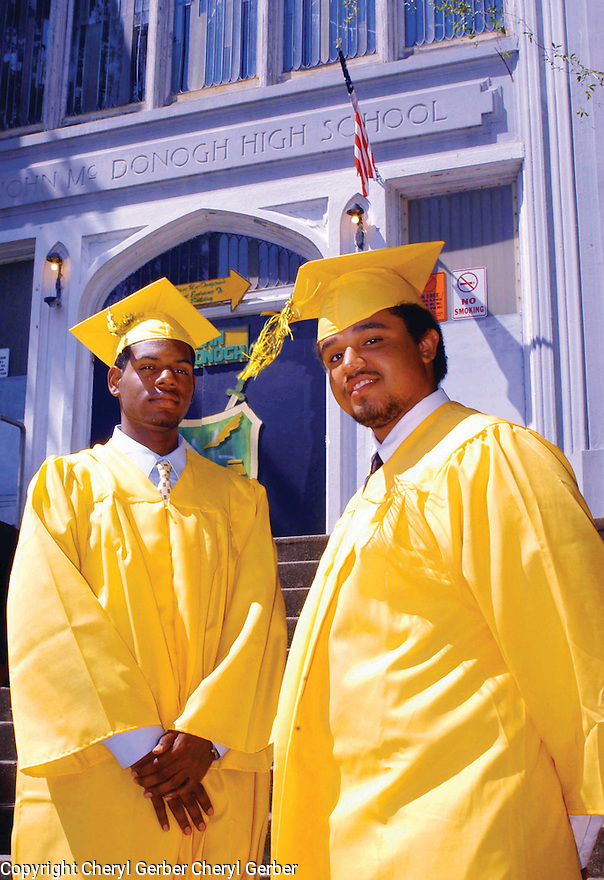 Arthur Jones and Wyatt Diaz graduate top of class at John McDonogh High School, 2005