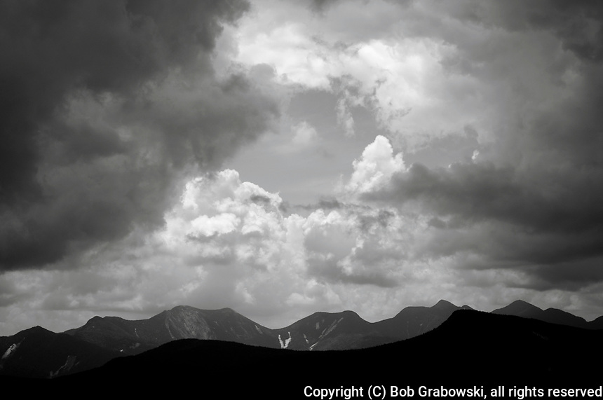Storm clouds over the Great Range from Cascade Mt in the Adirondack Mountains in New York State