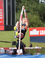 Holly Bradshaw (Great Britain) competing in the women's Pole Vault during the IAAF Diamond League Athletics Müller Grand Prix Birmingham at Alexander Stadium, Walsall Road, Birmingham on 18 August 2019. Photo by Alan  Stanford.