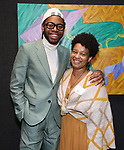 Jeremy O. Harris and Charly Evon Simpson during the Vineyard Theatre's Emerging Artists Luncheon honoring Charly Evon Simpson with the Paula Vogel Playwriting Award at the National Arts Club on November 25, 2019 in New York City.