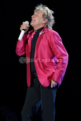 SUNRISE, FL - AUGUST 4 : Rod Stewart performs on the Heart & Soul tour at the BankAtlantic Center on August 4, 2012 in Sunrise Florida. © mpi04/MediaPunch Inc