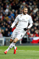 Karim Benzema of Real Madrid during La Liga match between Real Madrid and Sevilla at Santiago Bernabeu Stadium in Madrid, Spain. February 04, 2015. (ALTERPHOTOS/Caro Marin) /NORTEphoto.com