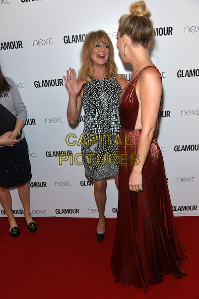 Kate Hudson and Goldie Hawn attend the Glamour Women of the Year Awards on June 2, 2015 in London, England.<br /> CAP/PL<br /> &copy;Phil Loftus/Capital Pictures