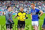 Captains Cillian O'Connor and Johnny Buckley Kerry vMayo in the All Ireland Semi Final in Croke Park on Sunday.