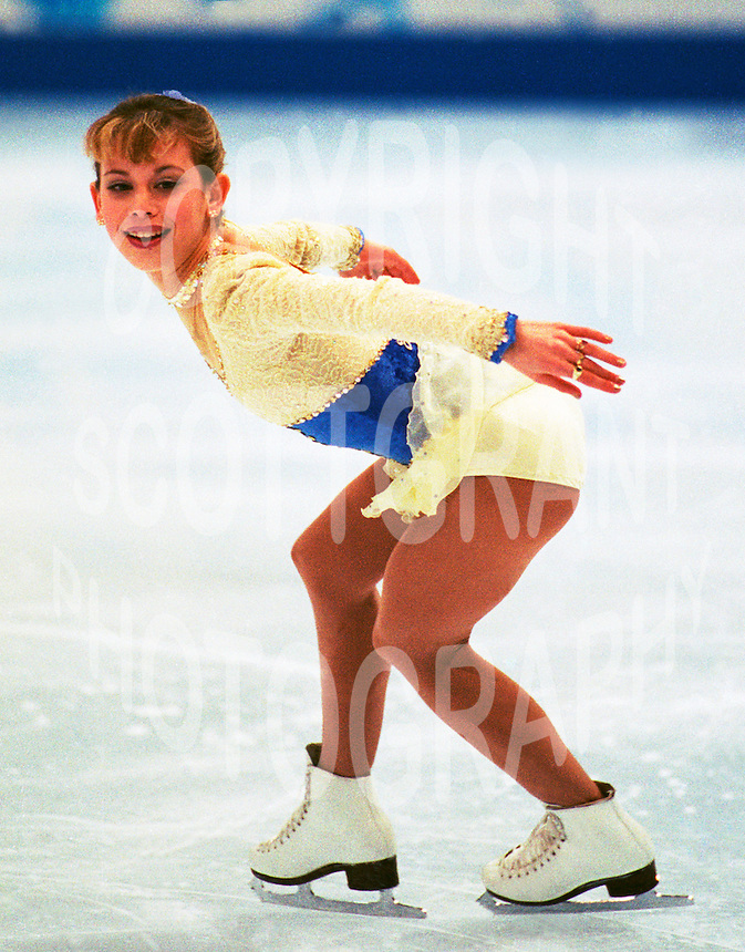 Tara Lipinski USA 1998 Olympics Nagano. Photo F. Scott Grant.