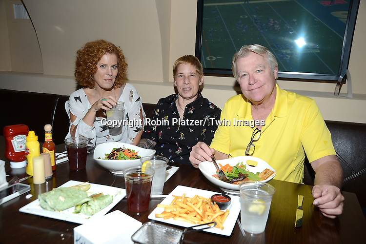 Liz Keifer and Jerry verDorn and Jamie Venise attend Daytime Stars and Strikes Charity Event benefitting The American Cancer Society on October 13, 2013 at Bowlmore Lanes in Time Square in New York City.