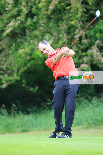 Diarmaid Linehan (Muskerry) on the 12th tee during Round 2 of the Irish Mid-Amateur Open Championship at New Forest on Saturday 20th June 2015.<br /> Picture:  Thos Caffrey / www.golffile.ie