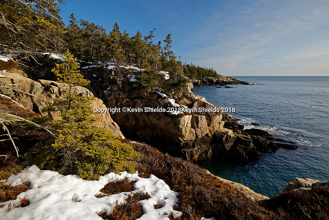 Late Winter at Acadia National Park, Maine, USA