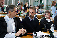 Giuseppe Tedesco with his lawyers, Eugenio Pini and Francesco Petrelli<br /> Rome October 29th 2019. Process 'Cucchi bis'. Stefano Cucchi, a 30 years old man, was arrested on October 15 2009 for drug possession, and after being convicted in Regina Coeli jail for few days, he was transferred to Sandro Pertini hospital, where he died on October 22 2009 due to be strongly beaten. On his body were found many signs of abuse and violence. The defendants are 5 carabineers. <br /> Foto  Samantha Zucchi Insidefoto