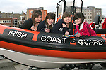 Katie Turner, Karla Kane, Katie Lee Reynolds and Elizabeth Doran in the Coastguard boat at Scotch Hall...Photo NEWSFILE/Jenny Matthews.(Photo credit should read Jenny Matthews/NEWSFILE)....This Picture has been sent you under the condtions enclosed by:.Newsfile Ltd..The Studio,.Millmount Abbey,.Drogheda,.Co Meath..Ireland..Tel: +353(0)41-9871240.Fax: +353(0)41-9871260.GSM: +353(0)86-2500958.email: pictures@newsfile.ie.www.newsfile.ie.FTP: 193.120.102.198.