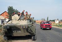 - Kosovo, Russian soldiers near Pristina airport<br /> <br /> - Kossovo, soldati russi nei pressi dell'aeroporto di Pristina