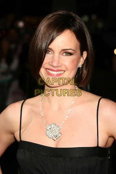 "CARLA GUGINO.""The Lookout"" Los Angeles Premiere at Grauman's Egyptian Theatre, Hollywood, California , USA..March 20th, 2007.headshot portrait cleavage silver diamond necklace .CAP/ADM/BP.©Byron Purvis/AdMedia/Capital Pictures"