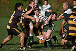 Mark Selwyn breaks through the Bombay forwards. Counties Manukau Premier Club Rugby game between Bombay & Manurewa played at Bombay on Saturday June 14th 2008..Bombay won 19 - 12 after leading 12 - 0 at halftime.