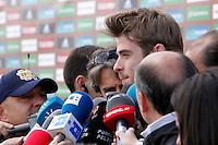 MADRID, ESPANHA, 21 MAIO 2012 - APRESENTACAO SELECAO ESPANHOLA - Jogador David de Gea durante chegada nessa terca-feira (21) a cidade de Las Rozas de Futebol, para concentracao da selecao espanhola para os amistosos contra as Seleçoes da Suíça, a Servia e Coreia do Sul.FOTO: ALEX CID-FUENTES - ALFAQUI - BRAZIL PHOTO PRESS