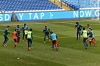 Swansea players warm up prior to the game during The Emirates FA Cup Fifth Round match between Sheffield Wednesday and Swansea City at Hillsborough, Sheffield, England, UK. Saturday 17 February 2018